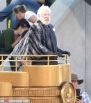 Exclusive... Donald Sutherland On The Set Of 'The Hunger Games: Catching Fire'