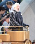President Snow Donald Sutherland Catching Fire Set Podium 5