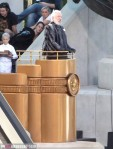 President Snow Donald Sutherland Catching Fire Set Podium 7